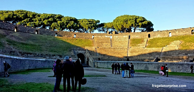Interior do Anfiteatro de Pompeia