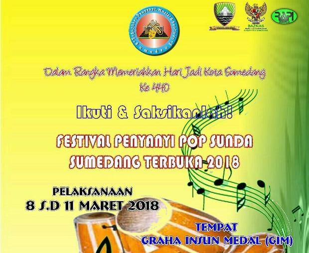 """Festival Penyanyi Pop Sunda """"Sumedang Terbuka 2018"""""""