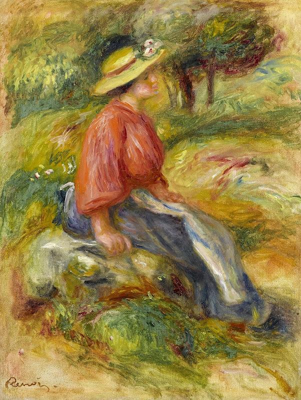 Pierre Auguste Renoir - Le Repos 1900