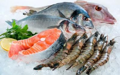 Hải sản và cá nước biển sâu