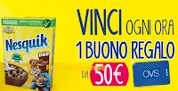 Logo Nesquik Cereali : vinci 468 Gift Card OVS da 50€