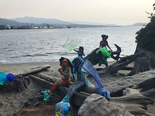 mermaid cheer station during SeaWheeze