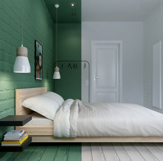 green and grey bedroom. Green Grey Bedroom I De A