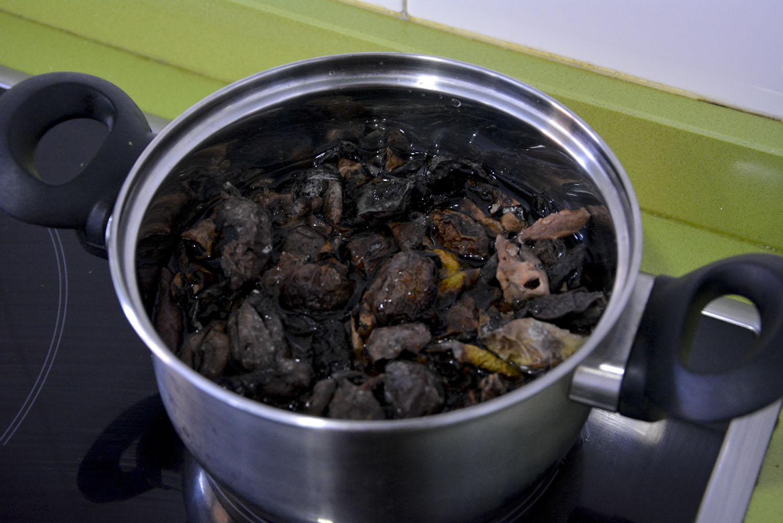 Cociendo las cáscaras