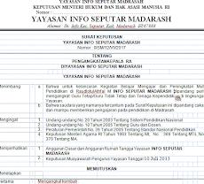 Download Contoh SK Yayasan Pengangkatan Guru Madrasah 2019