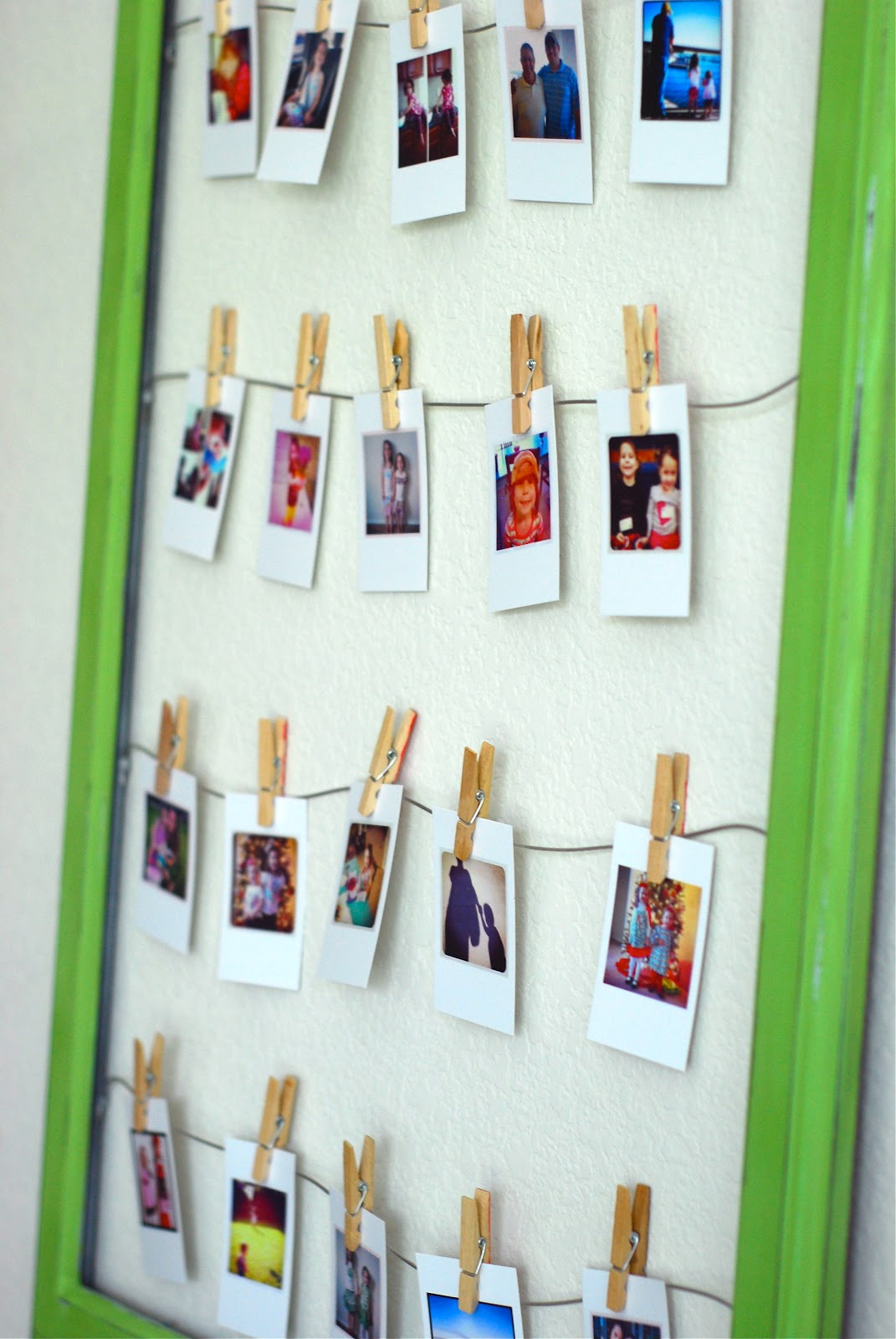 Laundry Cakes: DIY wall frame photo collage