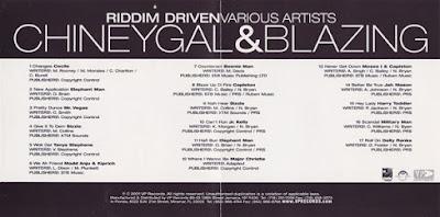 Les Riddims Dancehall : Chiney Gal and Blazing Riddim (2000)