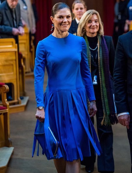 Crown Princess Victoria wore By Malene Birger pumps, carried Stella McCartney Clutch Bag. Finnish Independence
