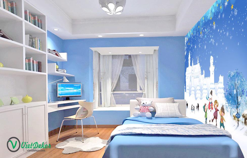 Tranh dán tường 3d phòng ngủ cho bé