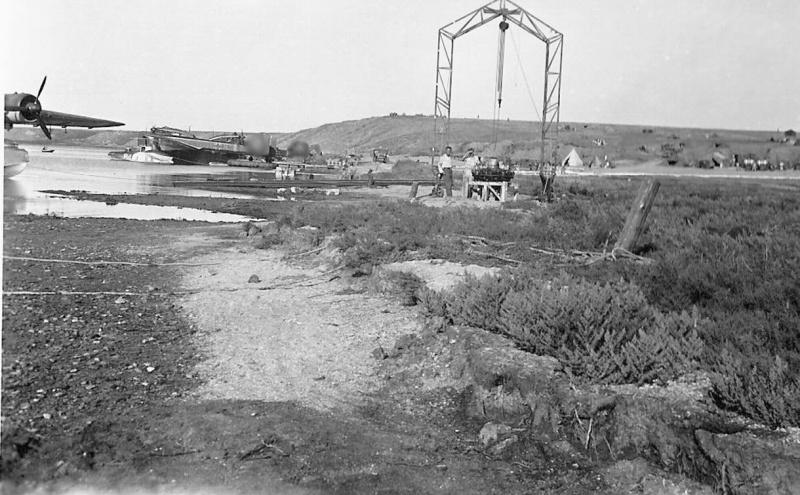 Немецкая база гидроавиации на Тобечикском озере в Крыму