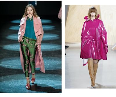Abrigos y pantalones con detalles en rosa. El color del invierno.