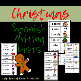 https://www.teacherspayteachers.com/Product/Spanish-Christmas-Word-Lists-2896275