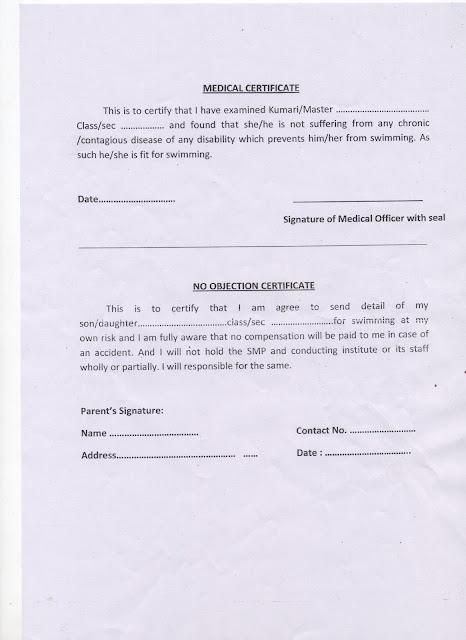 KENDRIYA VIDYALAYA SANGATHAN Bharat Scouts  Guides Medical - i have no objection