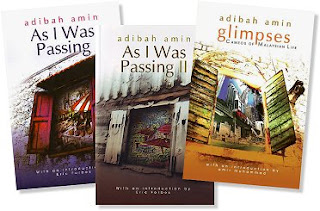 Books by Adibah Amin: 'As I Was Passing' volumes I and II, and 'Glimpses'