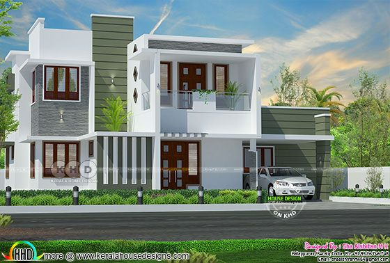 2545 square feet contemporary 4 bedroom Kerala home design