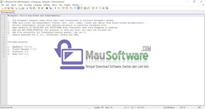software notepad++ mirip tapi tak sama dengan notepad bawaan windows