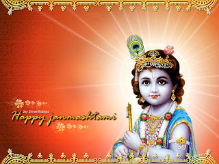 happy Shri Krishna Janmashtami greeting cards