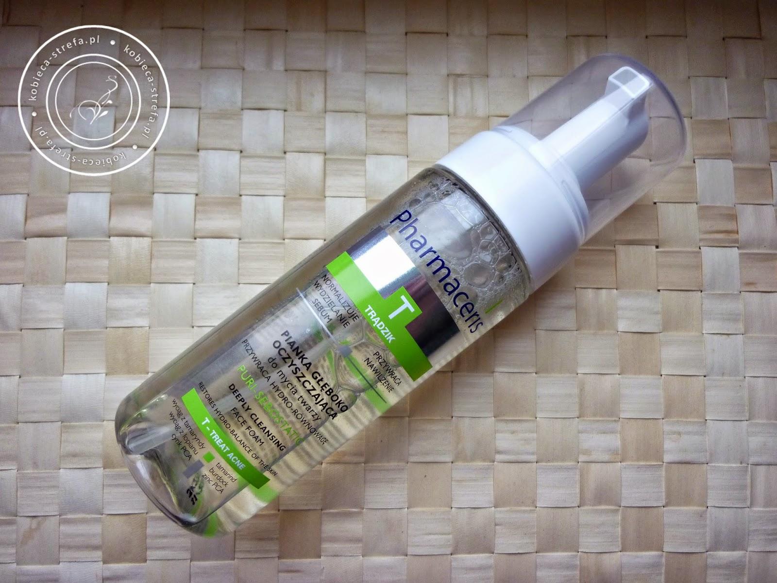 Pianka głęboko oczyszczająca - T treat acne Pharmaceris - cera tłusta i trądzikowa - puri sebostatic