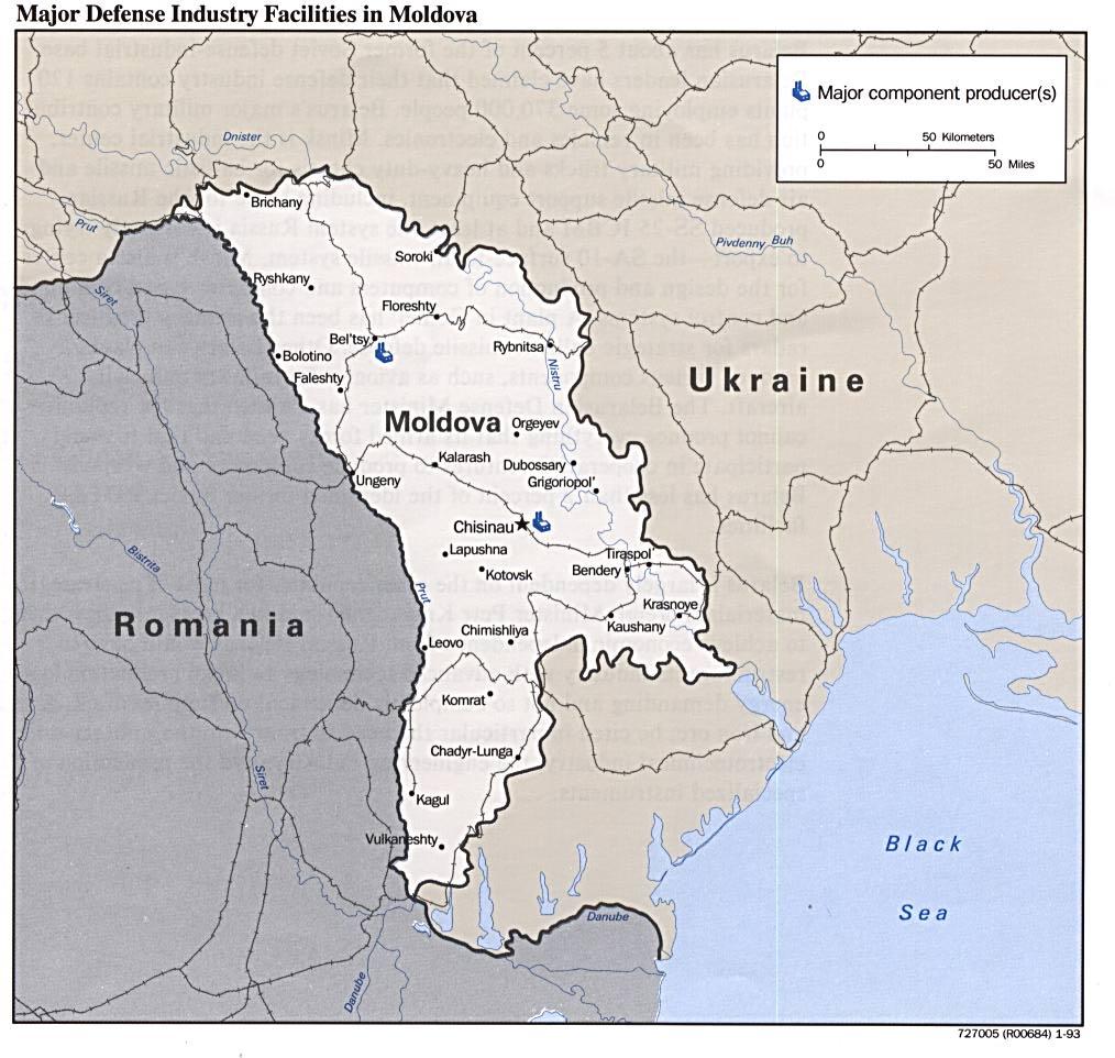 Moldávia | Mapas Geográficos da Moldávia