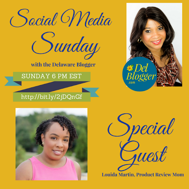 Check Me Out this Sunday on Social Media Sunday with the Delaware Blogger  via  www.productreviewmom.com