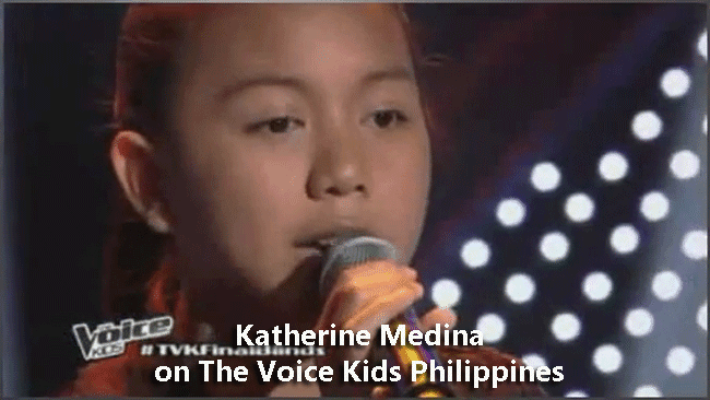 Katherine Medina on The Voice Kids Philippines