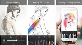 aplikasi membuat sketsa, aplikasi ilustrasi, aplikasi menggambar anime android,
