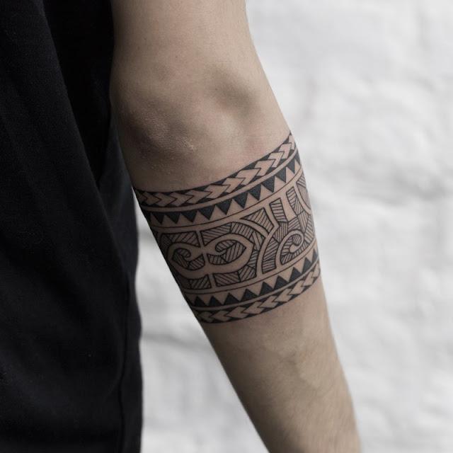 tato etnik tribal gelang lengan