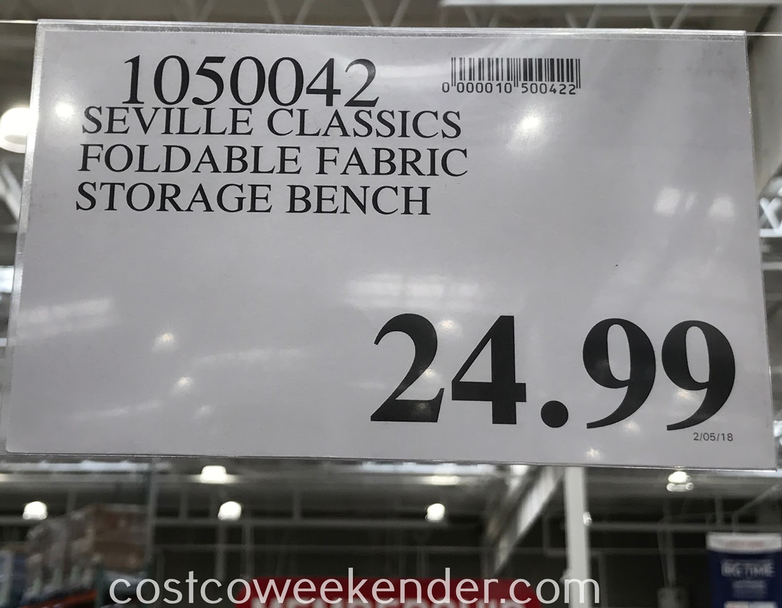 Deal for the Seville Classics Foldable Storage Trunk and Ottoman at Costco