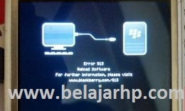 Cara memperbaiki error 513 BlackBerry curve 9220