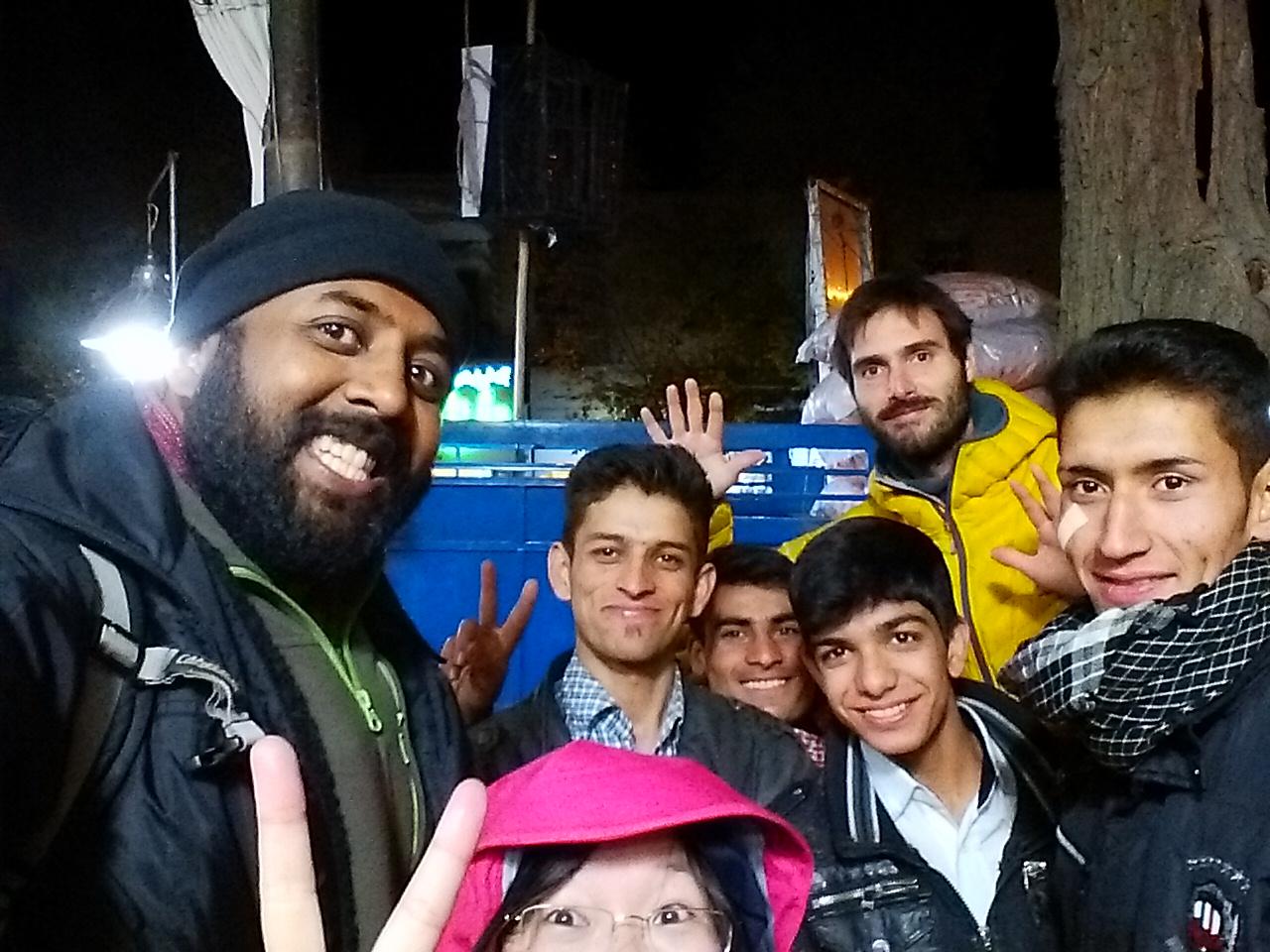 Making new friends in Iran