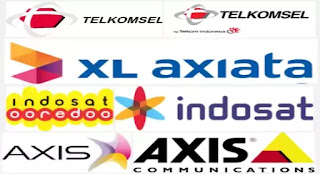 Axis, Indosat, Telkomsel, Three, XL, Simpati, As, IM3