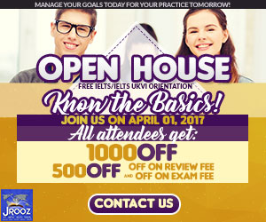 JROOZ FREE IELTS/IELTS UKVI OPENHOUSE PROMO  Join us on April 1, 2017  Know the basics of IELTS and IELTS UKVI  GET 1000 OFF  Manage Your Goals Today For Your Practice Tomorrow!