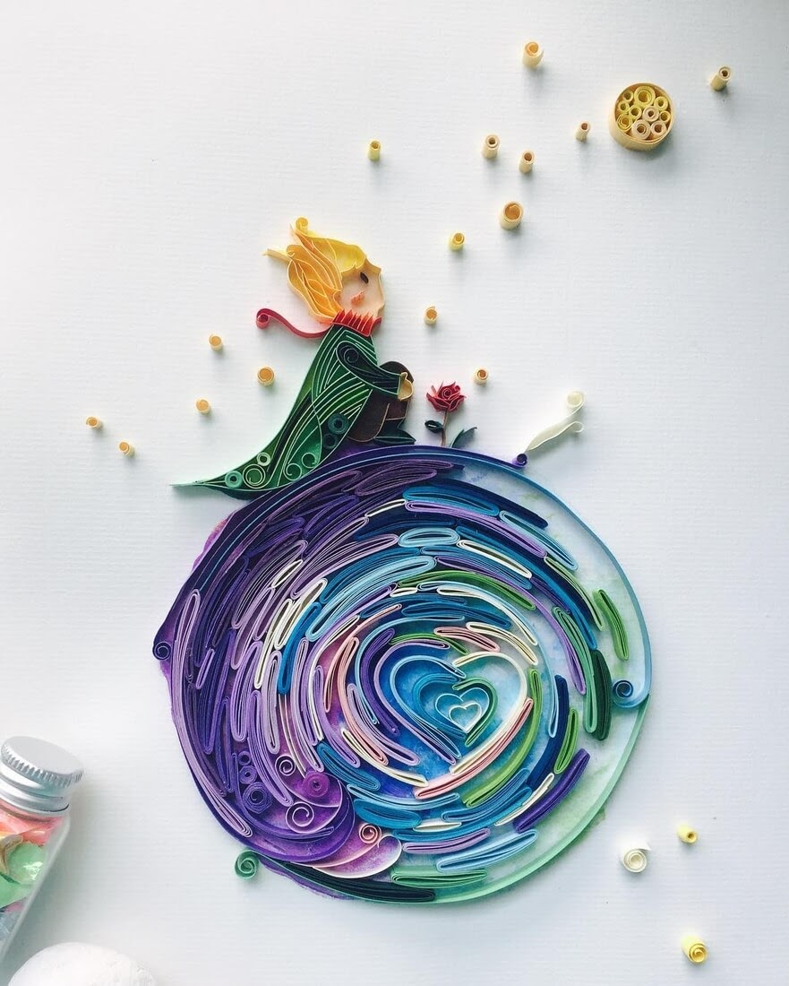 05-The-Little-Prince-Wing-Paper-Quilling-Art-Designs-www-designstack-co