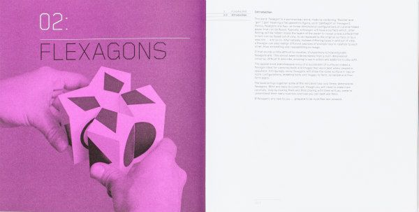 Flexagon sample project pages as seen in Cut and Fold Techniques for Promotional Materials, Revised Edition