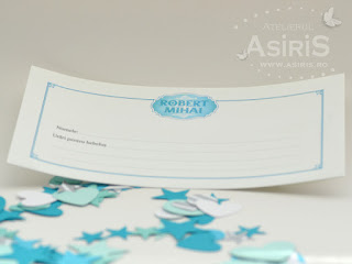Plic de bani pentru botez, printat color, cu urari pentru bebelus