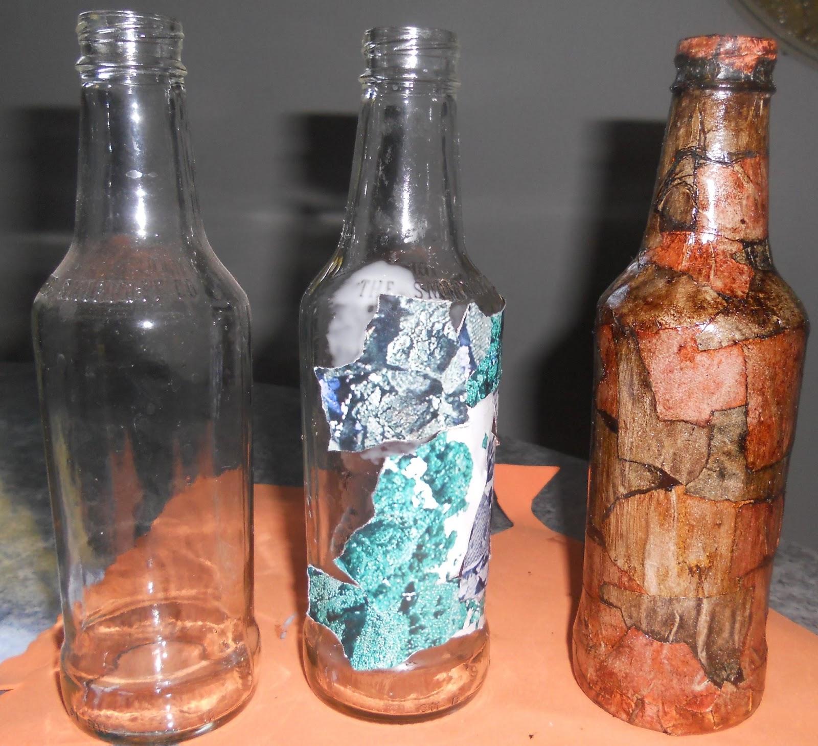 Artesanato Madeira De Demolição Passo A Passo ~ Artesanato Em Garrafa De Vidro