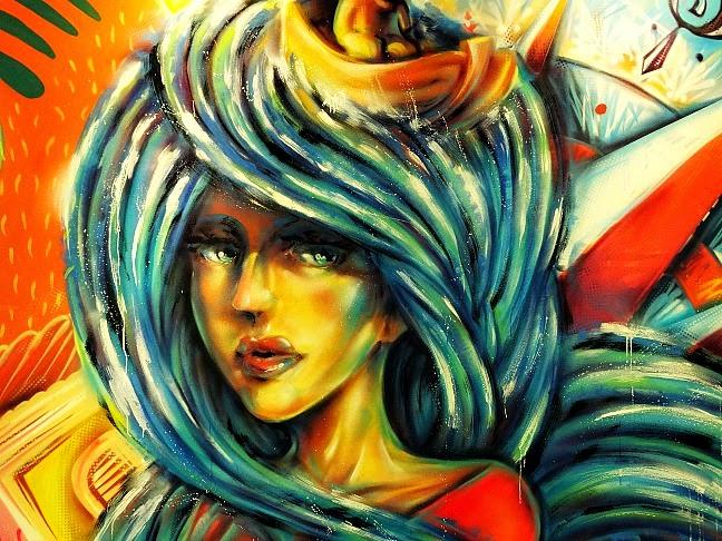 Imagem pintada em uma das paredes do CIC