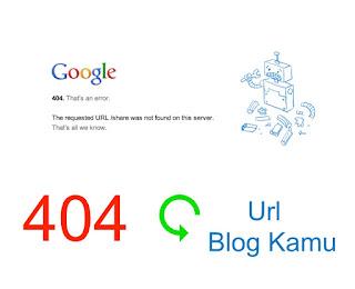 Cara Redirect Url Blog 404 Page Not Found / Halaman Tidak Ditemukan Ke Halaman Lain