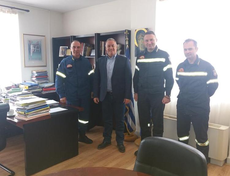 Συνάντηση του Αντιπεριφερειάρχη Χαλκιδικής κ. Ιωάννη Γιώργου, με στελέχη της Πυροσβεστικής Υπηρεσίας Κεντρικής Μακεδονίας και Χαλκιδικής, ενόψει της επερχόμενης αντιπυρικής περιόδου 2019.