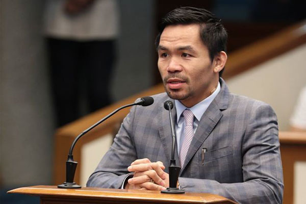 2qmiGMe Sen. Manny Pacquiao Backed and Support President Duterte's Martial Law