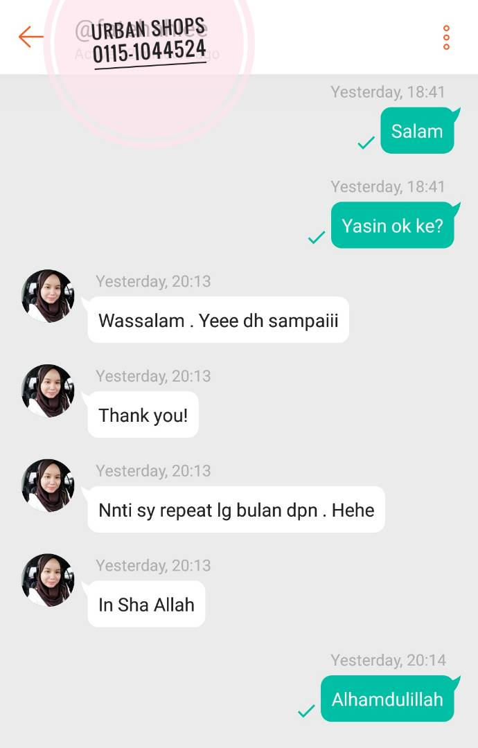 Yasin Murah 50sen Tanpa Minimum Order