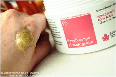 review emoliente idratante scrub  melograno  esfoliante detergente biofficina toscana