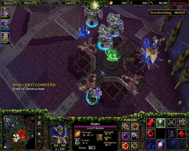 The Ruins of Dalaran Mission 7   Shadow Strike Screenshot   Warcraft 3: The Frozen Throne