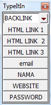 kumpulan tombol-tombol baru untuk membantu mengisi formulir