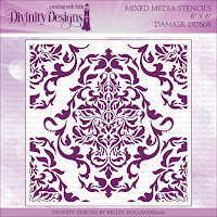 Divinity Designs Damask Mixed Media Stencil