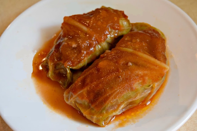 Stuffed cabbage on plate