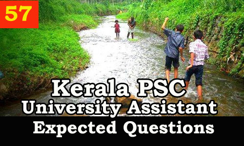 Kerala PSC : Expected Question for University Assistant Exam - 57