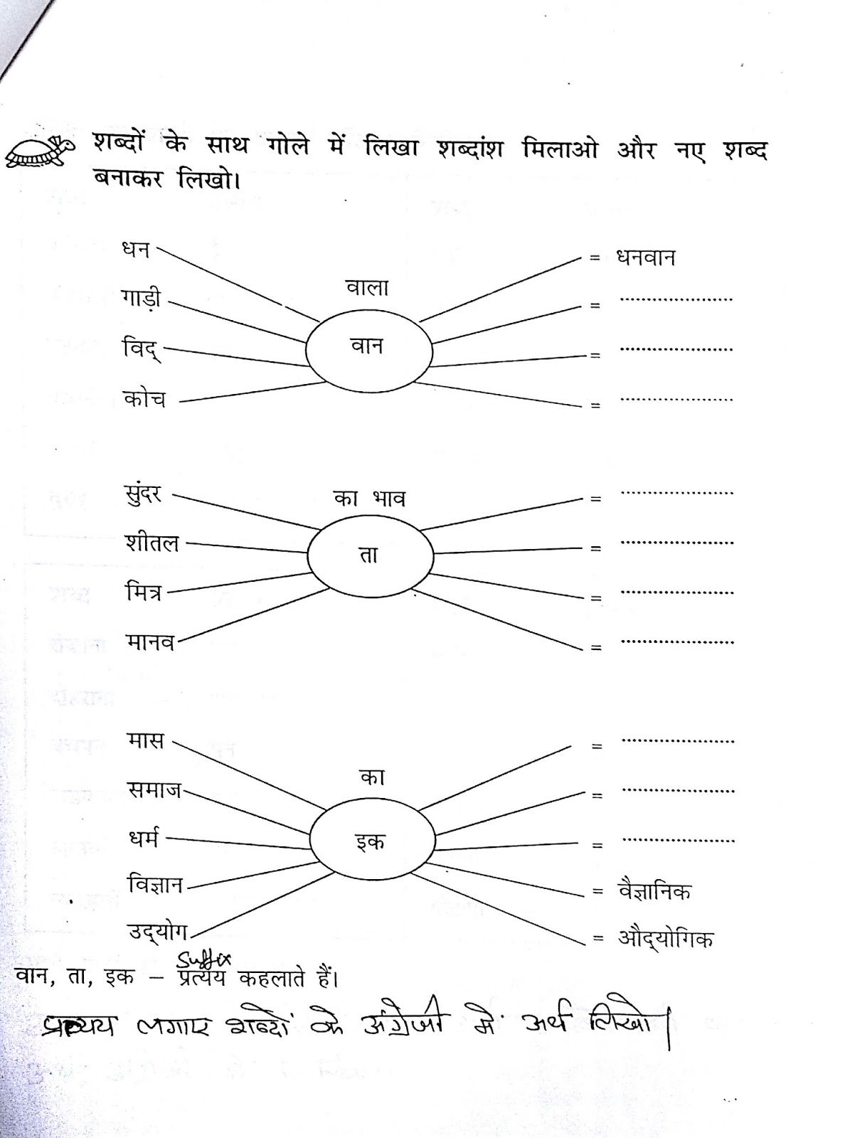hindi grammar work sheet collection for classes 5 6 7 8 prefix and suffix work sheets for. Black Bedroom Furniture Sets. Home Design Ideas