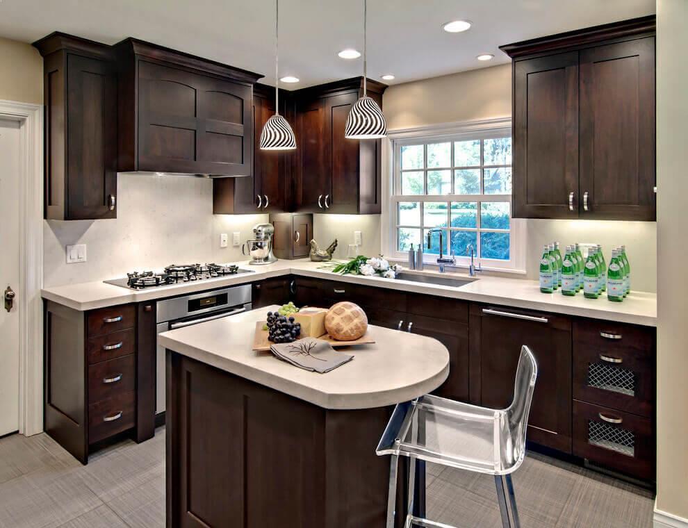 Dark Cabinets In A Small Kitchen Home Interior Exterior Decor Design Ideas