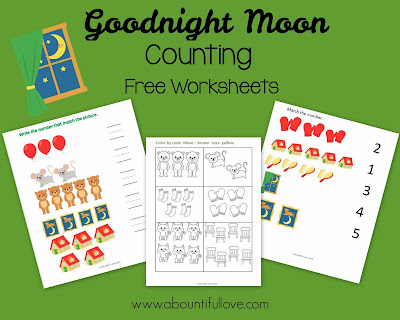 Goodnight Moon Counting Printable